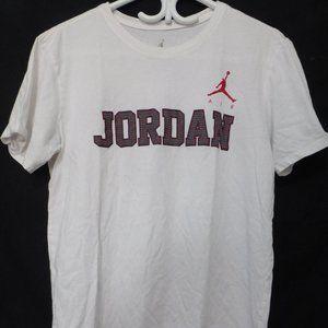 JORDAN, 45, white tee.  Jordan 45 logo, front